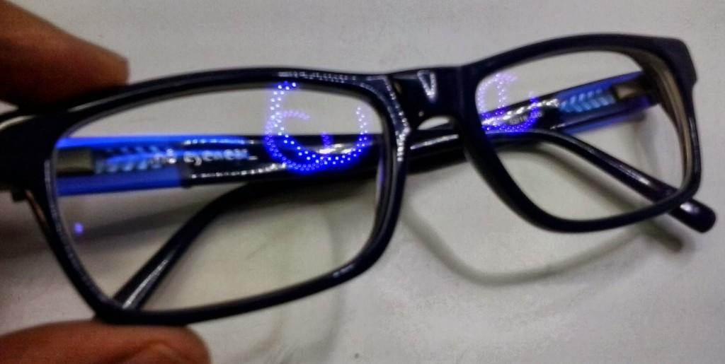 lente con filtro para la luz azul